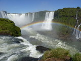 waterfall with rainbown