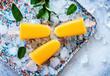 Mango-Bananen-Eis am Stiel - Popsicles 01