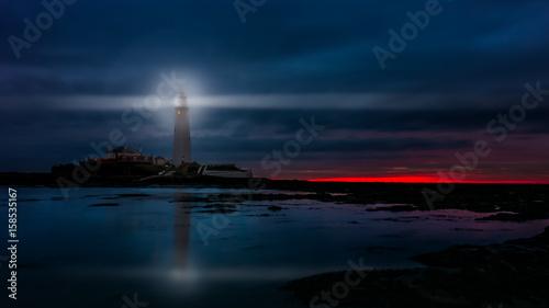 Fotobehang Vuurtoren St Mary's Lighthouse
