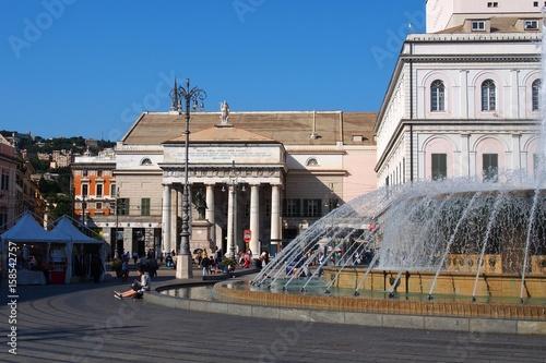Plagát la piazza de ferrari à  gènes en italie