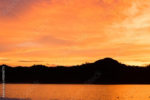 Papiers peints Orange eclat Sunset