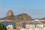 The Sugar Loaf Mountain and the neighborhood of Botafogo, Brazil