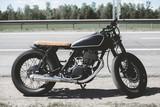 Fototapety Black custom motorcycle caferacer