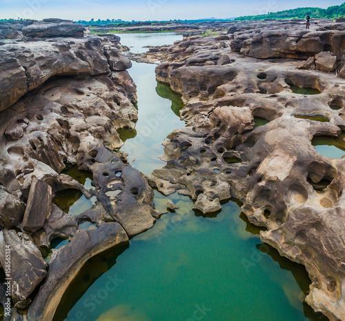 3000 bok unseen beautiful rock of Mekong Poster