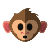 cute expressive monkey cartoon icon image vector illustration design
