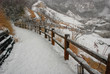 The road covered by snow, beautiful snow scene, snow covered all thing