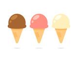 Ice cream icon flat design vector
