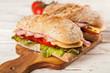 Delicious ciabatta sandwich