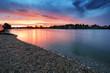 Lake sunset in Slovakia city Senec