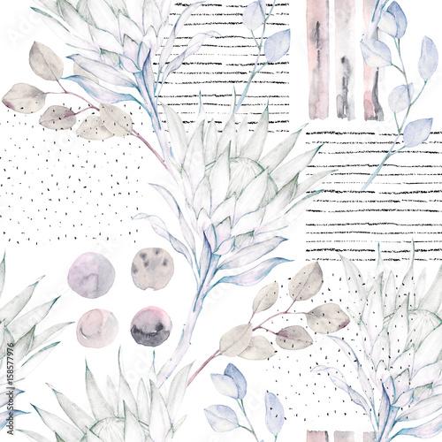 kwiatowy-wzor-streszczenie-akwarela-ilustracja