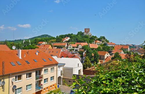 Poster Panorama of the town of Mikulov