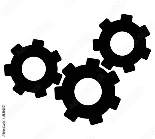 gears black icon vector