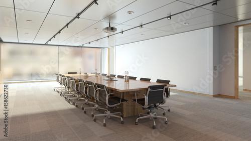 Tisch und Stühle im Konferenzraum im Business Loft