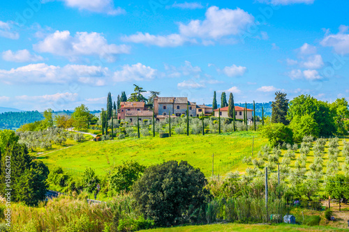 Foto op Plexiglas Lime groen Beautiful landscape in Tuscany, Italy