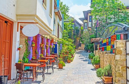 Cafe in shady street