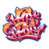 Hip-Hop in graffiti funky style.