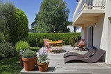 terrasse avec jardin maison en Bretagne - 158640187