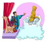 The prophet Daniel explained to the king of Babylon his sleep - 158648986