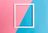 Empty frame on a bright split background - 158656386