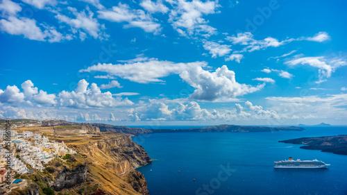 Fototapety, obrazy : Landscape Santorini Island, Fira, Cyclades, Greece