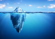 Leinwanddruck Bild - Iceberg - Hidden Danger And Global Warming Concept
