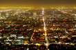 Quadro Aerial view over the city of Los Angeles by night - view from Griffith Observatory - LOS ANGELES - CALIFORNIA - APRIL 20, 2017