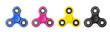 Fidget Spinner in CMYK concept