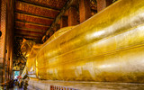 Giant Reclining Golden Buddha at Wat Pho Temple - Bangkok, Thailand