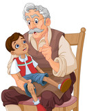 Mister Geppetto and Pinocchio