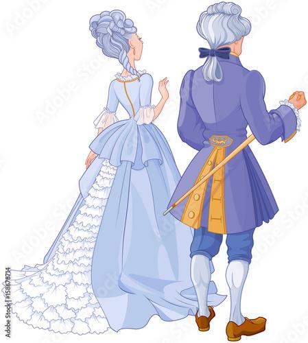Foto op Aluminium Meisjeskamer Gentleman and Lady