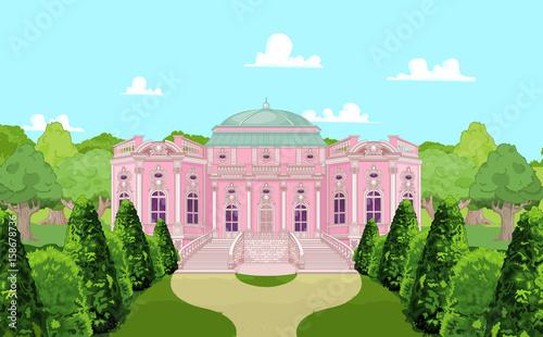 Foto op Aluminium Meisjeskamer Romantic Palace for a Princess