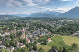 Beautiful village at the mountain - Alps, Alpenstraße, Salzburg, Austria