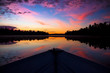 Sunrise on a row boat