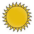 summer sun weather icon vector illustration design