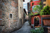 Picturesque street in Montecatini Therme, Tuscany, Italy