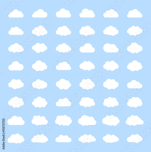 Cloud shapes set