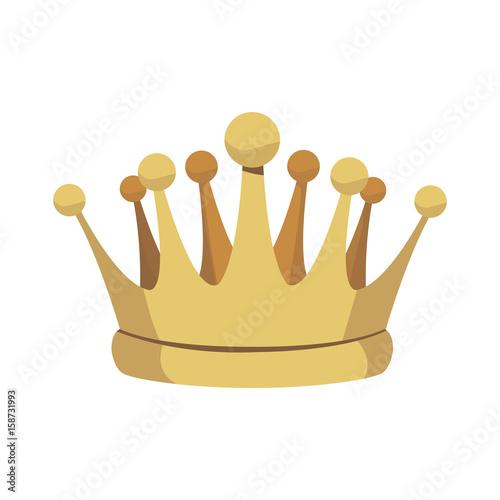 crown treasure kingdom majestic luxury icon vector illustration