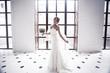 Wedding studio photo session of the bride