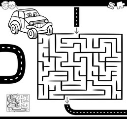maze or labyrinth for coloring