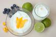 canvas print picture - Joghurt mit Früchten