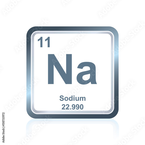 Chemical Element Sodium From The Periodic Table Buy Photos Ap