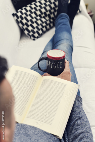 hygge, danish word for comfort or enjoy Poster