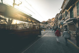 Tram traffic in Port de Soller - Mallorca