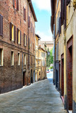 Street view of Siena, Italy