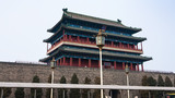 view of Zhengyangmen Gate tower in Beijing