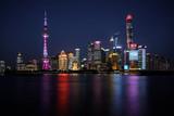 Shanghai bei Nacht, Skyline Finanz-District