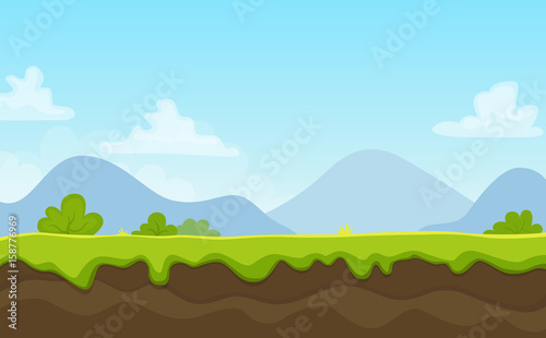 Cartoon Landscape Background
