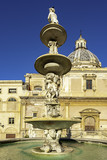 Fontana Pretoria in Palermo, Sicily is also called Fountain of shame, because of the nude figures.