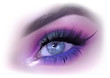 Fashion Woman Eye Makeup - Detailed Realistic Illustration, Vector