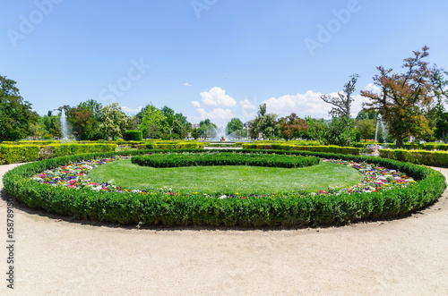 Garden in the Royal site of Aranjuez Poster